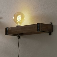Legno wall light with a cable and plug