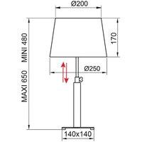 Aluminor Quatro Up table lamp ebony chrome
