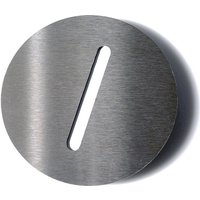 Stainless steel house number Round