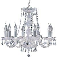 8 bulb Hale crystal chandelier