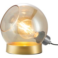 Toula table lamp    20 cm  amber glass