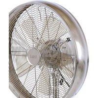 Breeze pedestal fan 122 cm  round base  chrome