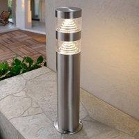 Lanea stainless steel pillar light with LEDs 40 cm