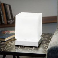 With touch dimmer   Brenta LED table lamp white