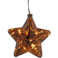 LED glass star Dew Drop string lights  battery