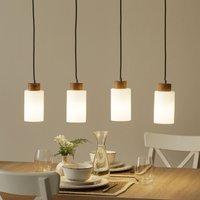 Long Bosco pendant lamp  oiled oak  4 bulb
