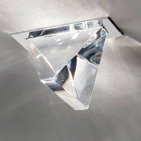 Tripla LED recessed ceiling light aluminium