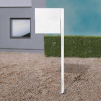 Letterman XXLII letterbox  post  white
