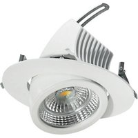 Pivotable LED downlight 15 cm  18 W