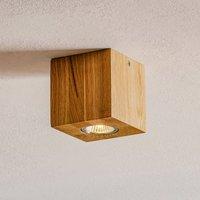 Wooddream ceiling lamp 1 bulb oak  angular  10 cm