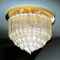 Image of 24 K vergoldete Kristall-Deckenlampe Punta