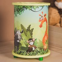 Wildlife table lamp printed with animal motifs