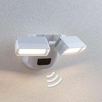 LED-Außenwandstrahler Nikoleta mit Sensor, 2-fl.