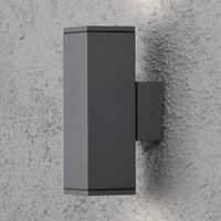 Outdoor spotlight Monza anthracite two bulb