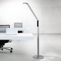 Luctra Floor Radial LED floor lamp aluminium