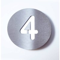 Stainless steel house number Round   4