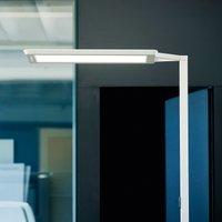 Yara single LED floor lamp CCT  BT  PIR  silver