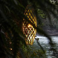 david trubridge Hinaki hanging lamp 50 cm caramel