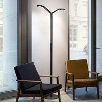 Luctra Floor Twin Radial LED floor lamp black