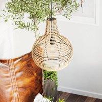 By Ryd ns Granada hanging light  rattan lampshade