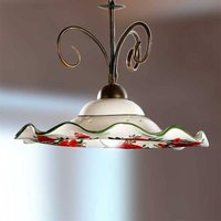 ROSOLACCI hanging light with a ceramic lampshade