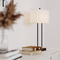 By Ryd ns Luton table lamp  white black  56 cm