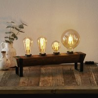 Legno table lamp made of wood  four bulb