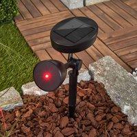 LED-Solarlampe Kari, rotes Dekolicht