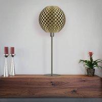 Flechtwerk Kugel table lamp  gold