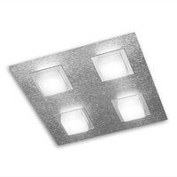 GROSSMANN Basic LED ceiling light 4 bulb aluminium