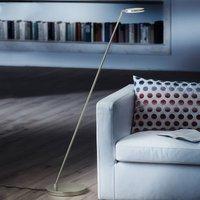Platinum effect Plano S LED floor lamp