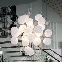 Interesting Explosion pendant lamp in white chrome