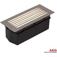 Wall LED   recessed outdoor wall lamp with louvre
