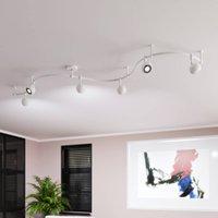 ELC Delila track lighting system  round sand white