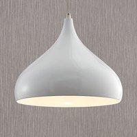 Ritana aluminium pendant light  white