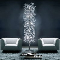 Crystal floor lamp covered in crystals