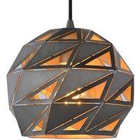 Malunga pendant light made of metal  grey and gold