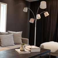 By Ryd ns Foggy floor lamp  five lampshades  white