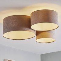 080 ceiling light  3 bulb  light grey and white
