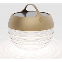 IP44 de aqu S LED solar light  height 23 cm gold