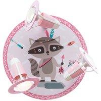 Little Indians ceiling lamp  Oskar Raccoon  pink