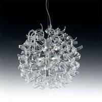 Modern hanging light ASTRO  9 bulbs  clear