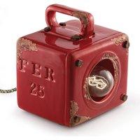 Vintage-tafellamp Lorenzo in rood