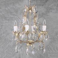 PISA four bulb chandelier silver  glass