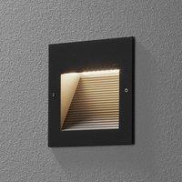 BEGA 24202 LED recessed wall light 3,000K graphite