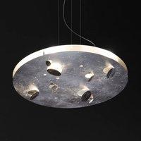 Knikerboker Buchi hanging lamp silver leaf round