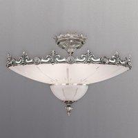 Lámpara de techo Stephanie decorada en plata