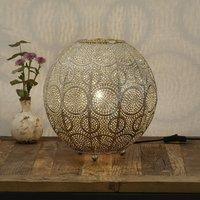 Motivo table lamp  spherical  gold