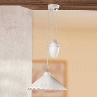 Hanging light Pizzo with pulley  1 bulb  40 cm