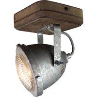 Woody ceiling light  galvanised  1 bulb